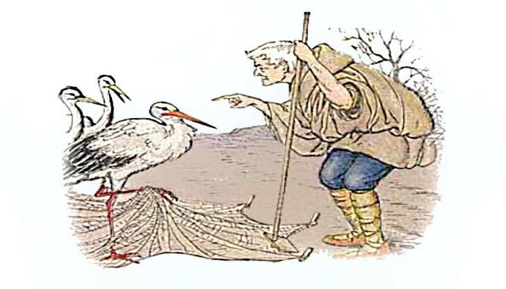 Landmann und Storch