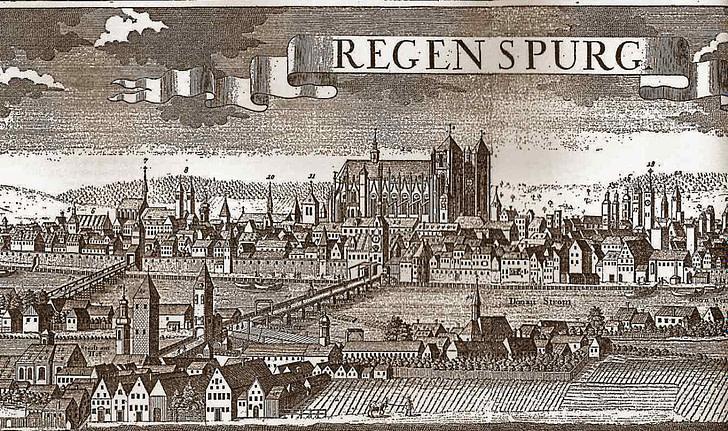Kupferstich Regensburg